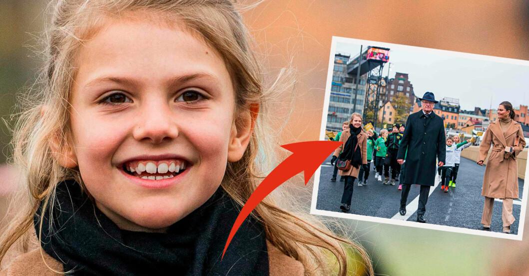 Prinsessan Estelle kungen kronprinsessan Victoria guldbron Stockholm