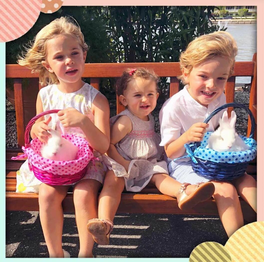 Prinsessan Madeleines barn prinsessan Leonore, prinsessan Adrienne och prins Nicolas missar morfar kungens firande.