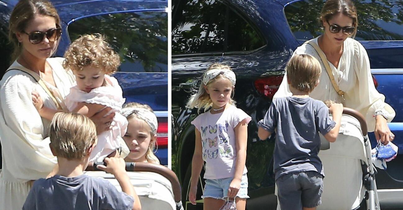 Prinsessan Madeleine Prinsessan Adrienne Prinsessan Leonore Prins Nicolas Miami 2020
