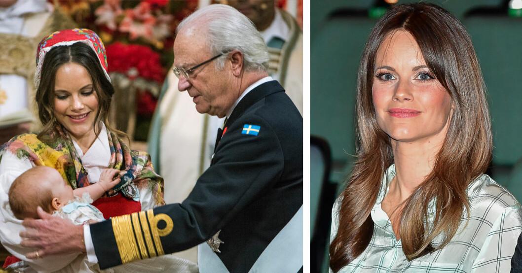 prinsessan Sofia bar folkdräkt på sonen Gabriels dop