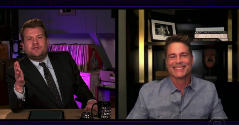 Rob Lowe James Corden Late Late Show