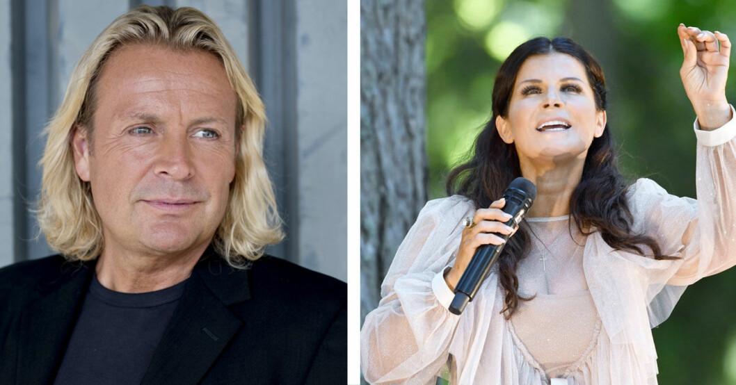 Runar Sögaard och Carola Häggkvist