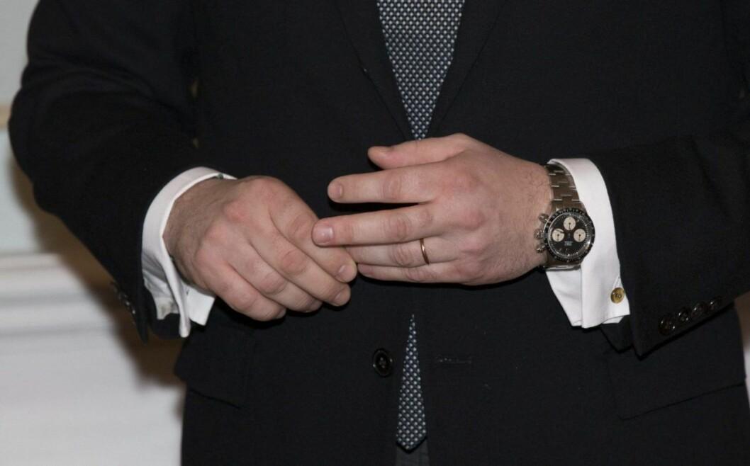 Chris älskar sina Rolex-klockor. Här är en av hans Daytona-modeller.