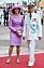 Kungen Drottning Silvia Vit amiralsuniform Tropikuniform