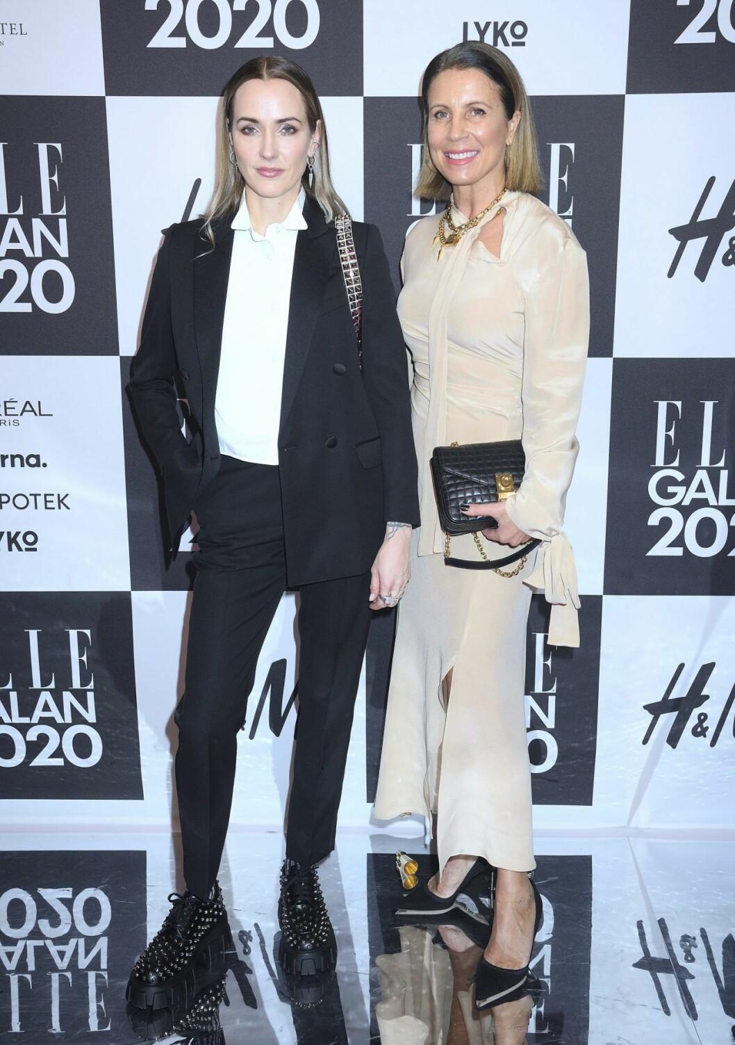 Maria Nilsdotter och Nina Philipson på Elle-galan.
