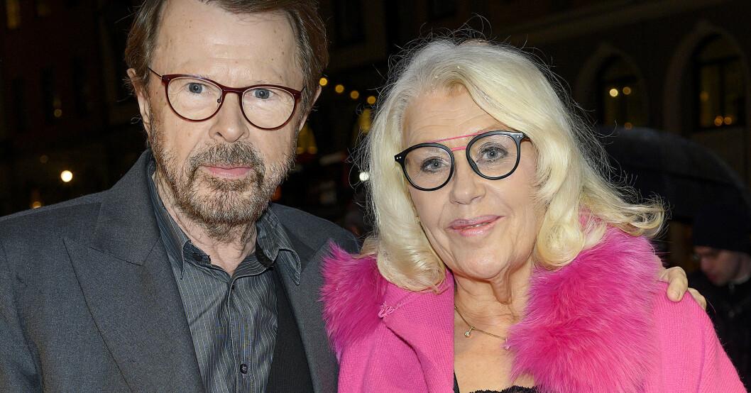 Björn Ulvaeus och hans hustru Lena.