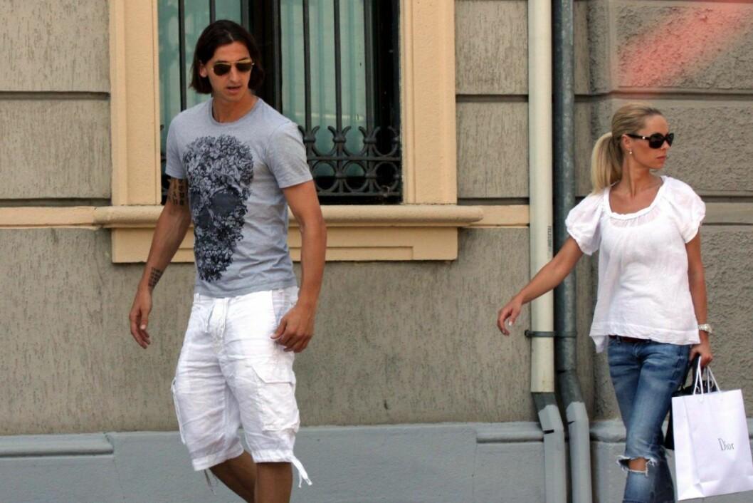 Zlatan och Helena när den förstnämnde spelade i Inter i Milano.