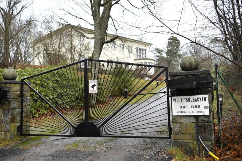 Villa Solbacken på Djurgården i Stockholm, bostad åt prins Carl Philip Prinsessan Sofia