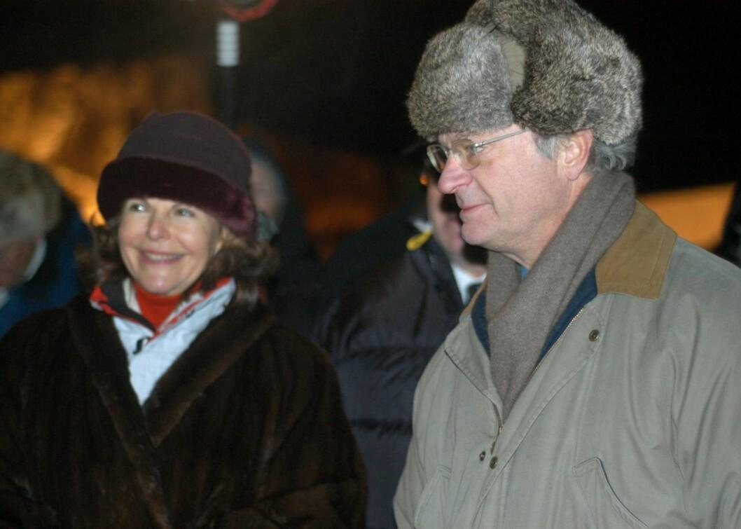 Kungen och drottningen på Jokkmokks marknad 2005.