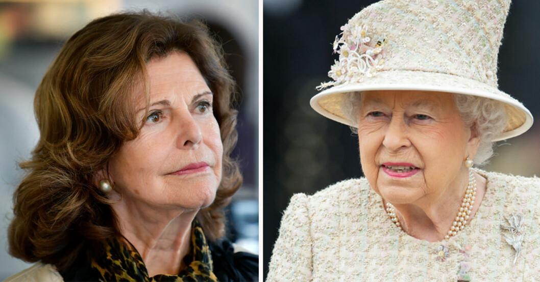 Drottning Silvia och drottning Elizabeth
