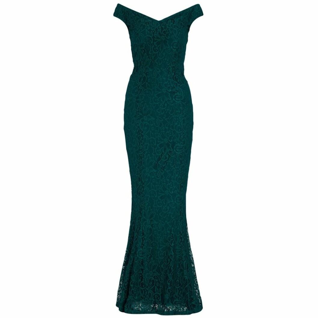 Grön klänning i spets från Bubbleroom