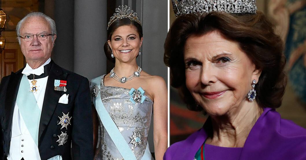 kungen drottning silvia kronprinsessan victoria