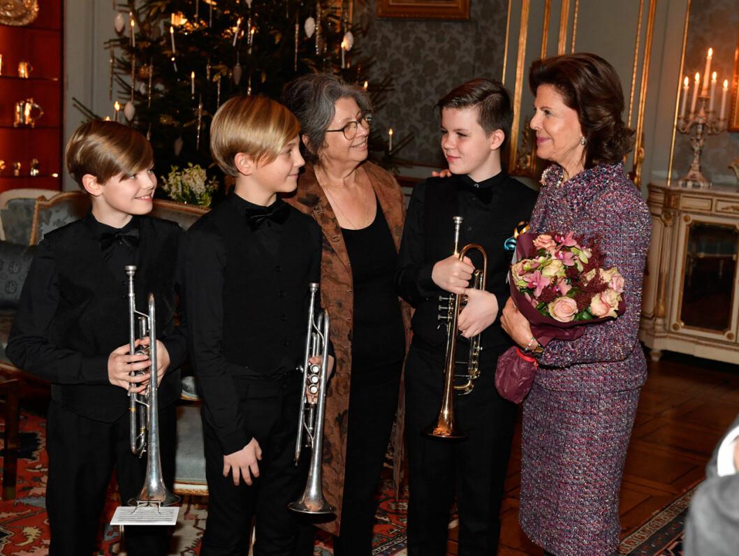 Lilla Akademien spelade på drottningens 75-årsdag.