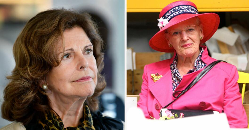 Drottning Silvia och drottning Margrethe