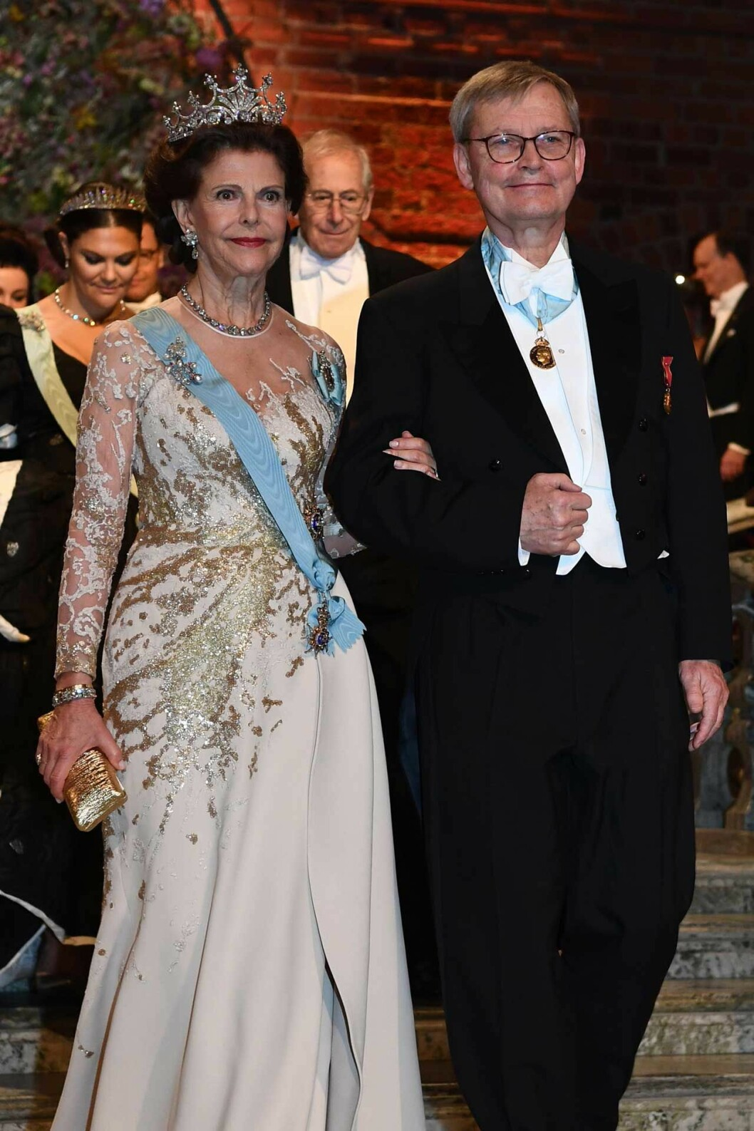 Drottning Silvia i sin Elie Saab-klänning under Nobel 2019.