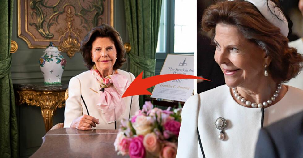 Drottning Silvia i vitt