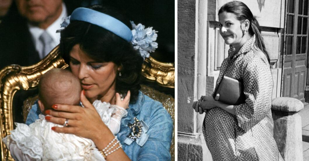 drottning siliva gravid med madeleine 1982