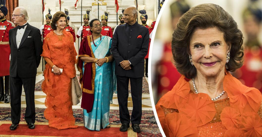 drottning silvia i indien statsbesök
