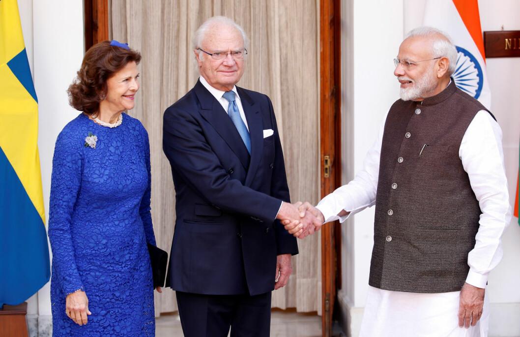 drottning siliva indien statsbesök