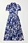 Blå mönstrad klänning med knäppning från DvF