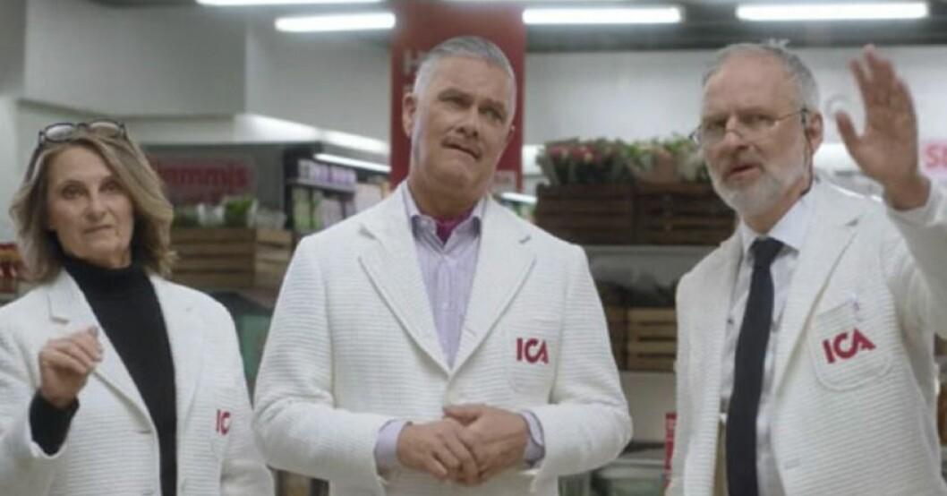 Suzanne Reuter och Björn Kjellman i Ica-reklamen
