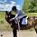 Prinsessan Märtha Louises dotter Emma Behn på sin häst Fetoucha
