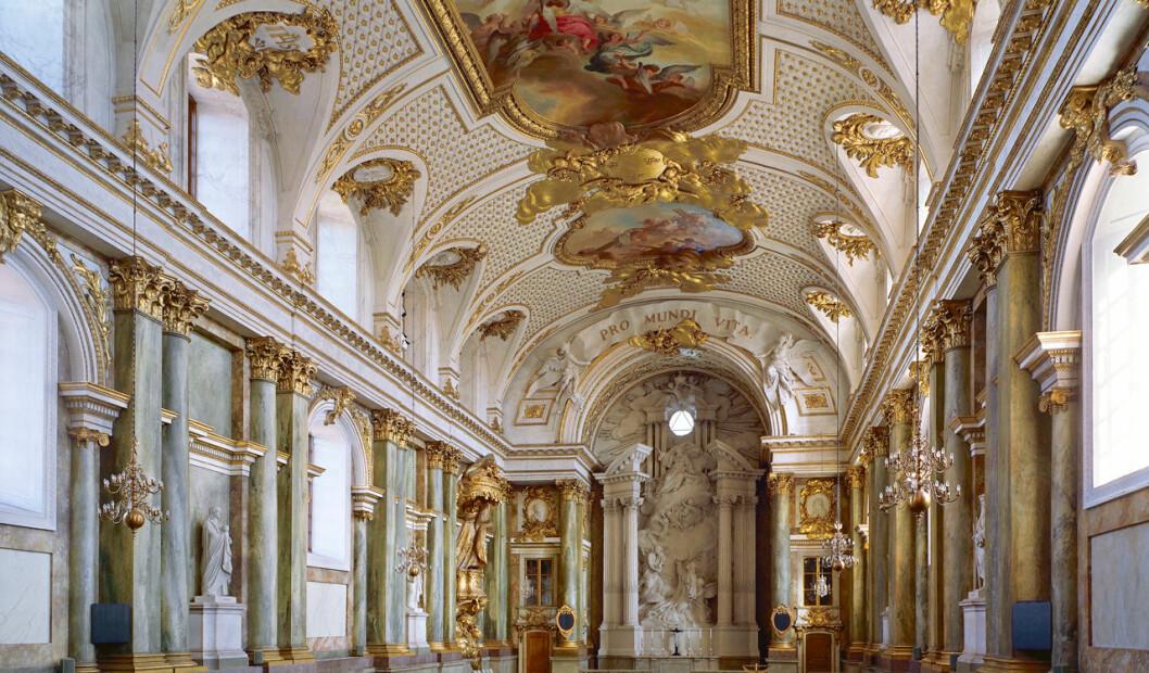 Slottskyrkan på Kungliga Slottet i Stockholm.