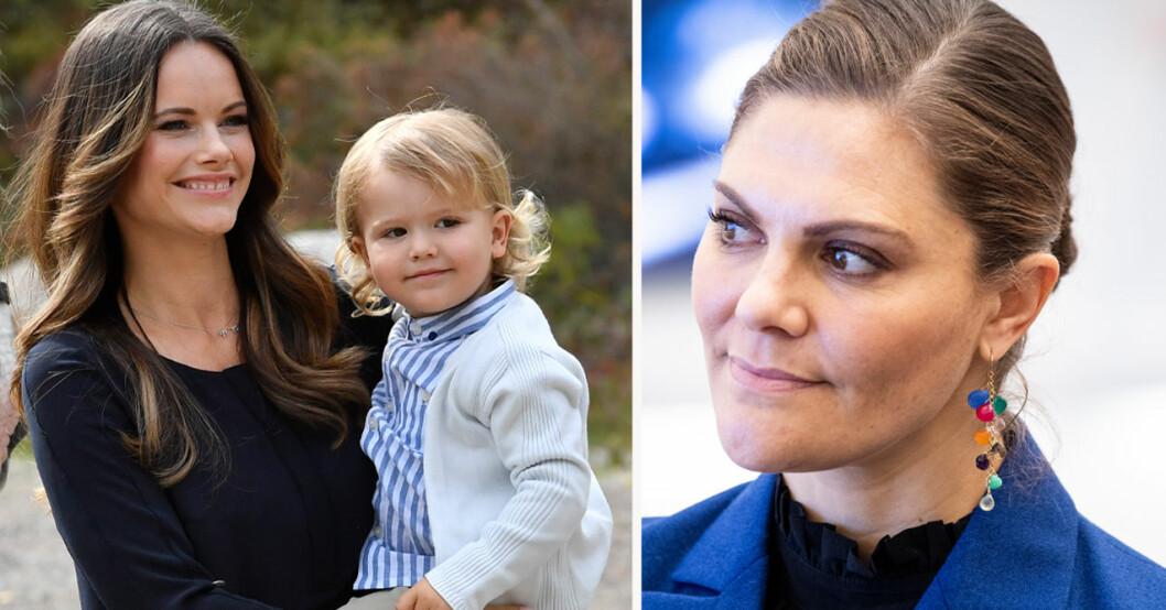 Prinsessan Sofia, prins Alexander och kronprinsessan Victoria