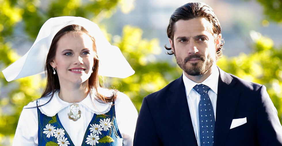 Prinsessan Sofia Prins Carl Philip Nationaldagen