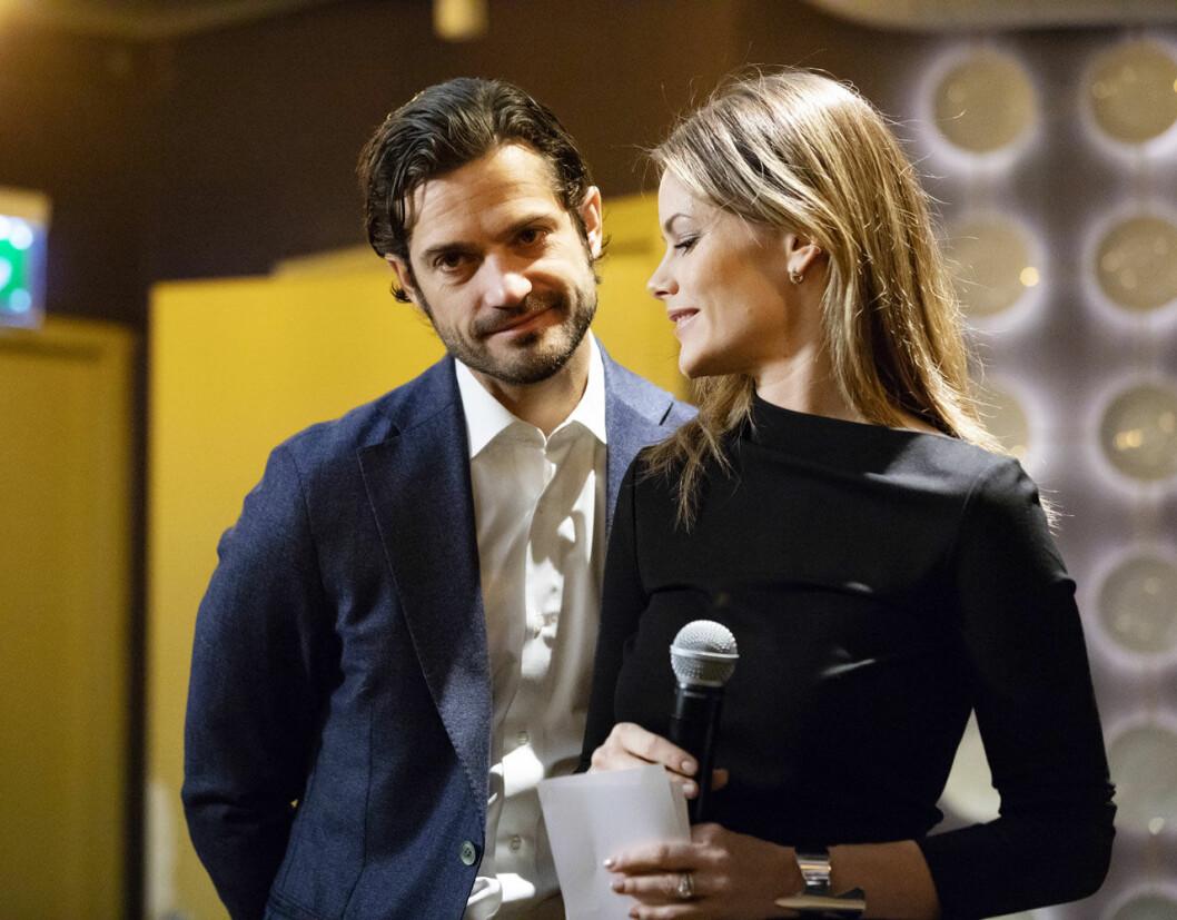 Prins Carl Philip och prinsessan Sofia vid lanseringen av sin kampanj Nej till näthat.