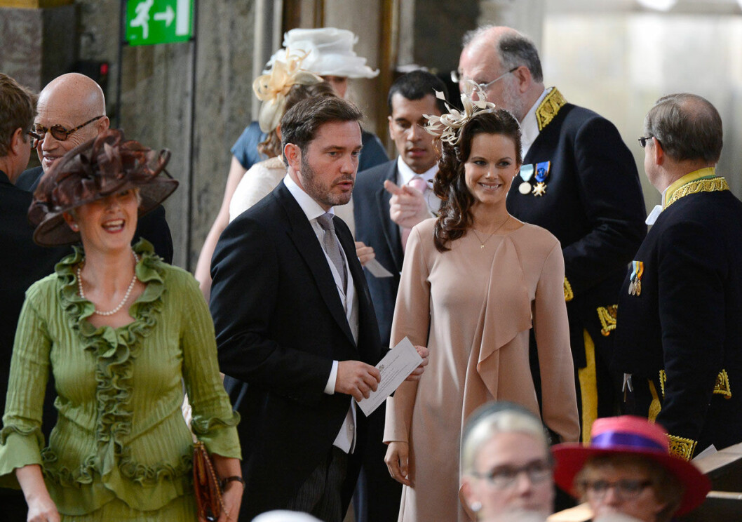 Chris O'Neill och prinsessan Sofia.
