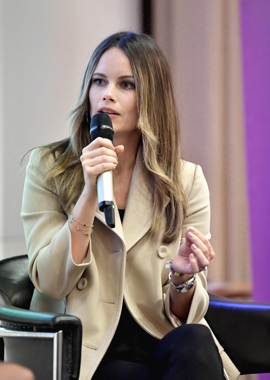 Prinsessan Sofia håller tal vid Entreprenörskapsforum 2019.