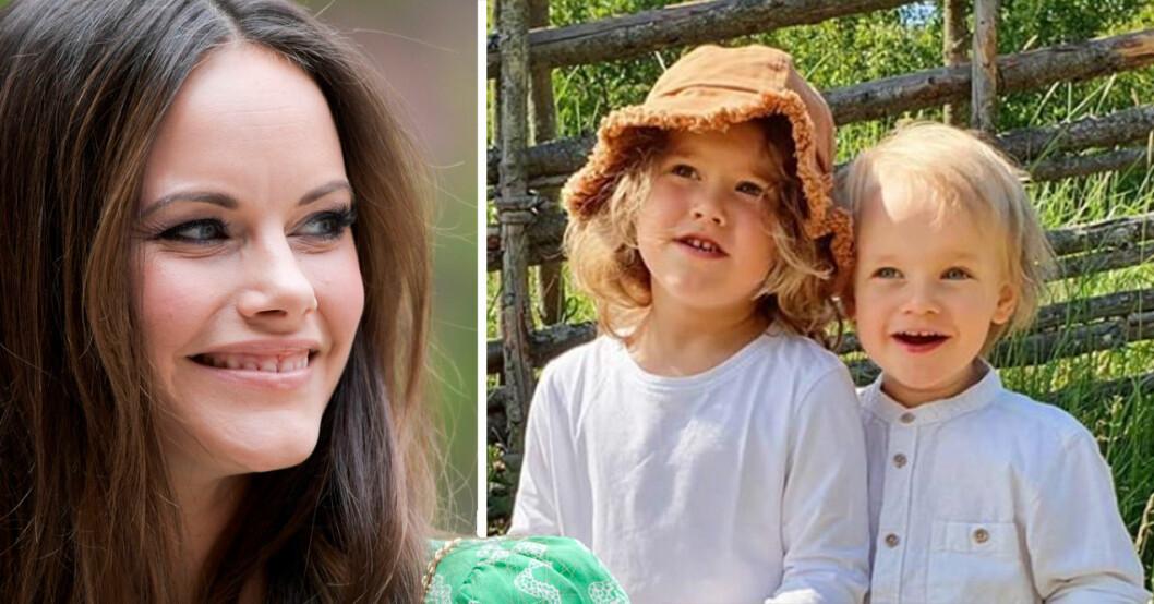 Prinsessan Sofia, Prins Alexander och prins Gabriel på sommarlov på Ökenäs gård.