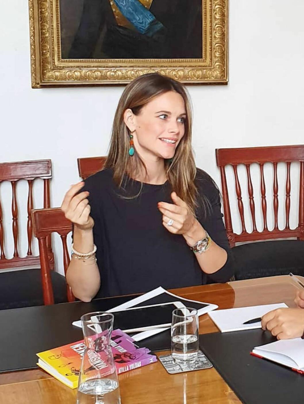 Sofia och Carl Philip på möte med Prinsparets stiftelse