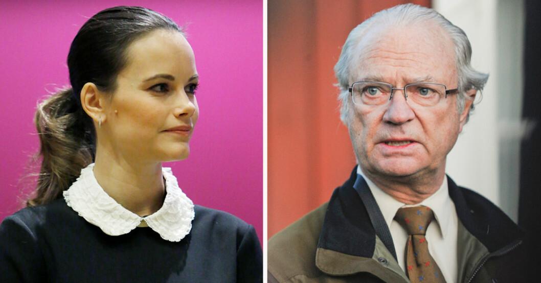 Prinsessan Sofia och kung Carl Gustaf
