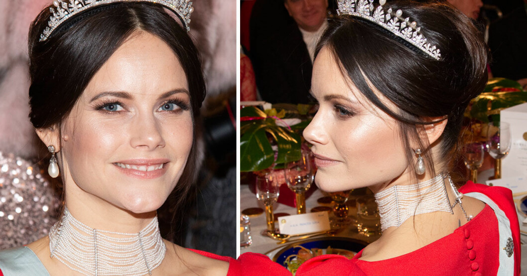 Prinsessan Sofia på Nobelfesten.