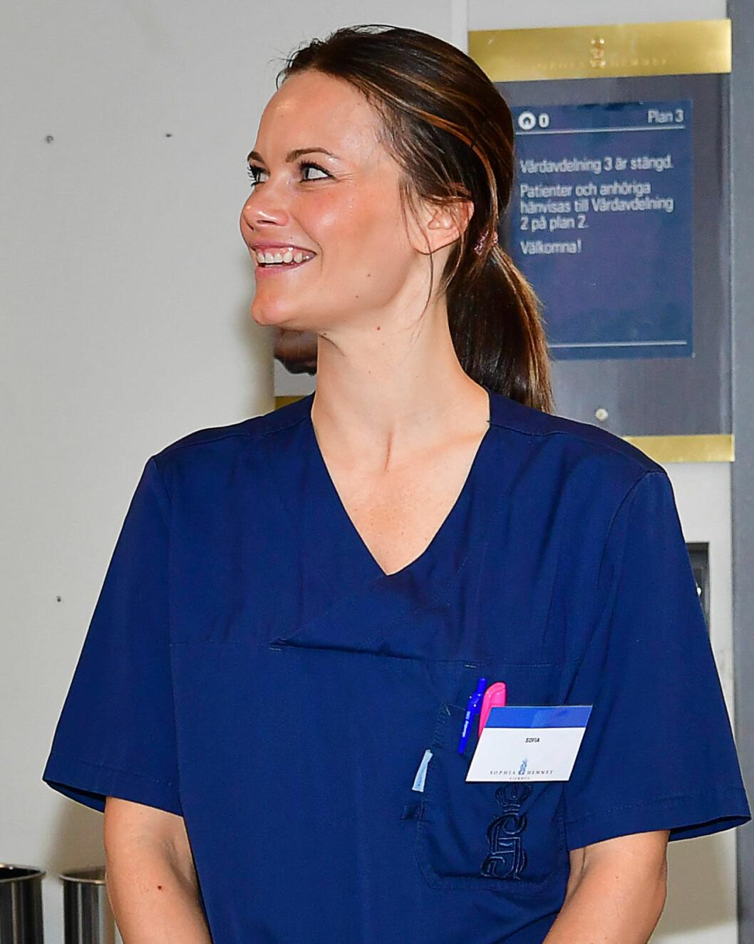 Prinsessa Sophia börjar jobba på Sophiammet i Stockholm.