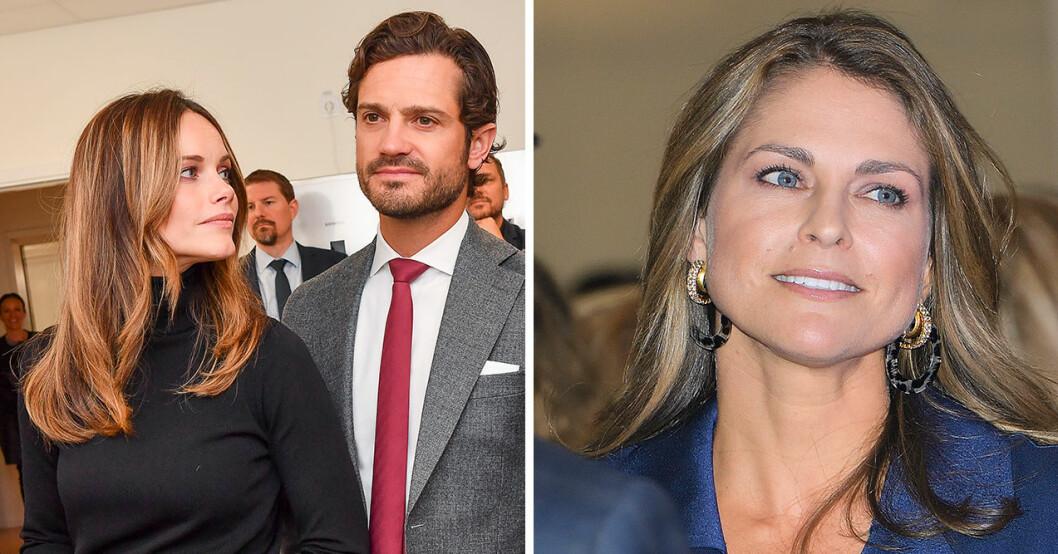 Prinsparet följer inte prinsessan Madeleines nya privata konto på Instagram.