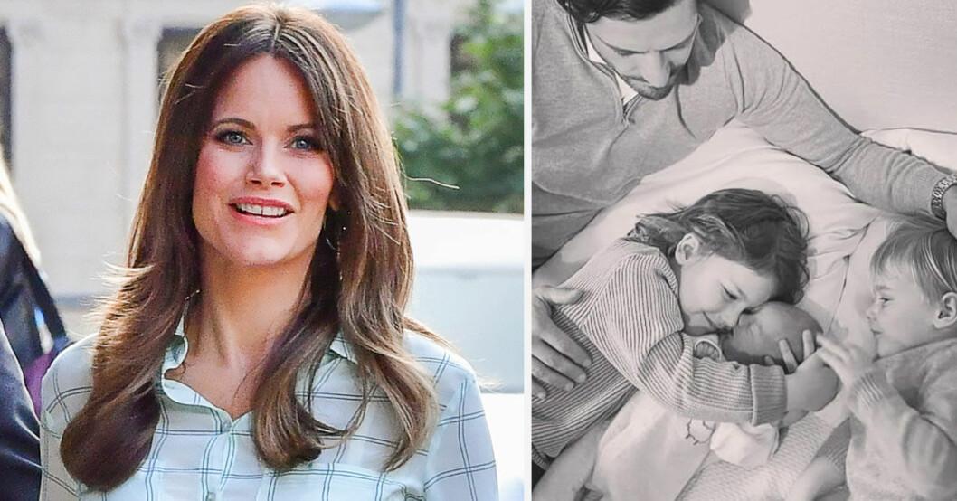 Hovet berättar om prins Julians första tid i livet med prins Carl Philip och prinsessan Sofia