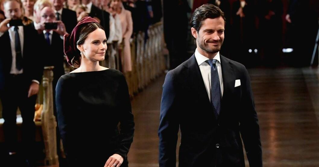 Prinsessan Sofia och prins Carl Philip på plats under riksmötets öppnande ifjol.