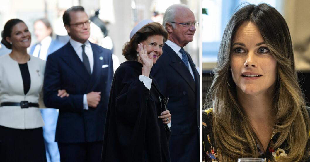 Prinsessan Sofia missar riksmötets öppnande 2021