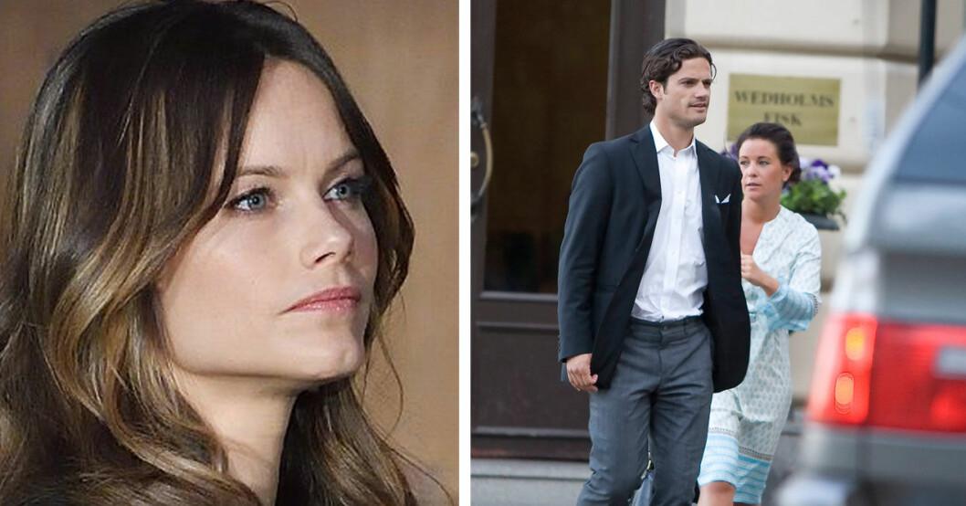 Sofia ville att Carl Philip skulle gå vidare från Emma Pernald.