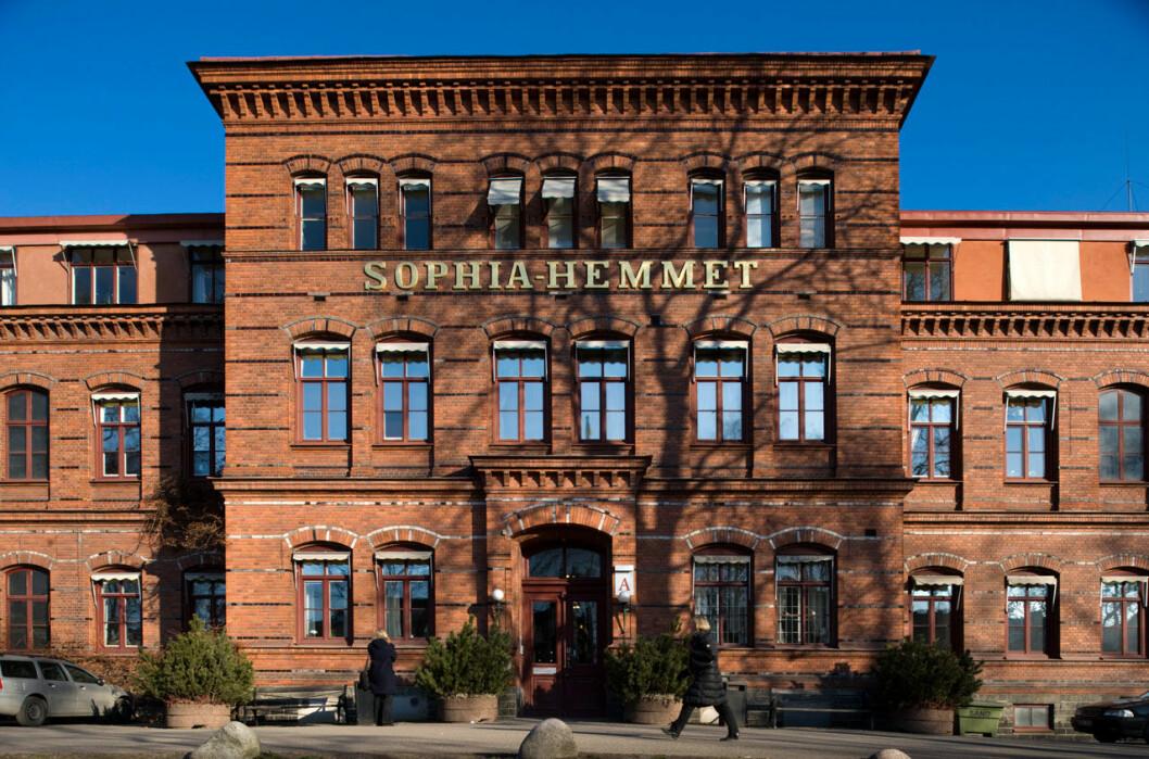 Sophiahemmet på Valhallavägen i Stockholm.