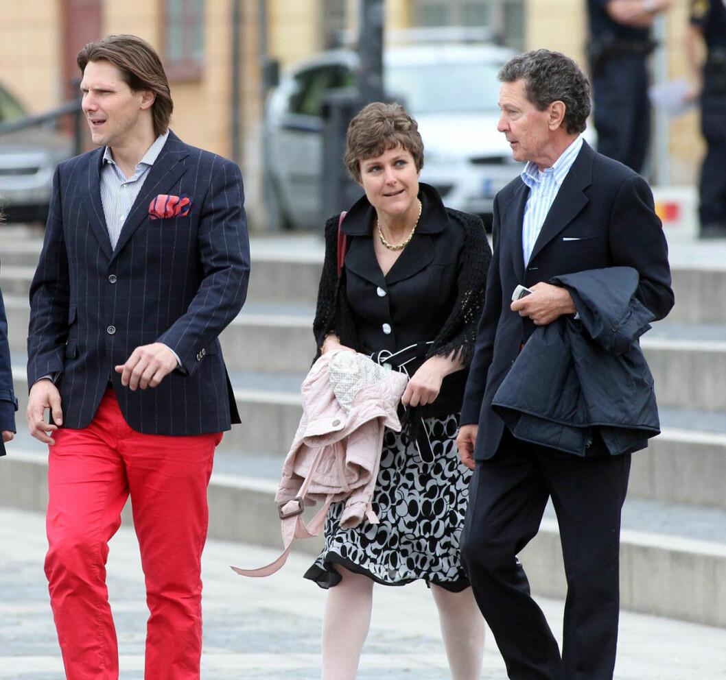Patrick Sommerlath med sin pappa Walther och sin syster Sophie Sommerlath Pihut.