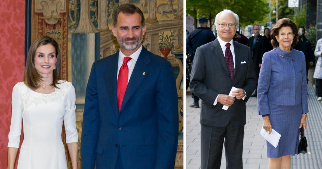 Spanska kungaparet till Sverige på statsbesök i november