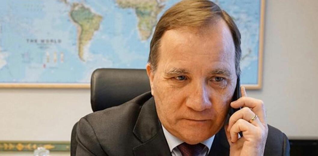 Statsminister Stefan Löfven har telefonmöte med kungen.