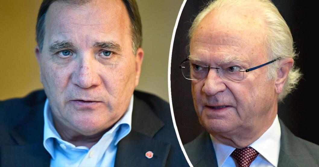 Stefan Löfven och Kung Carl Gustaf