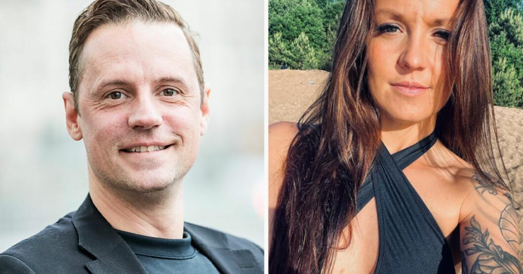 Stefan Odelberg och Petra Johansson