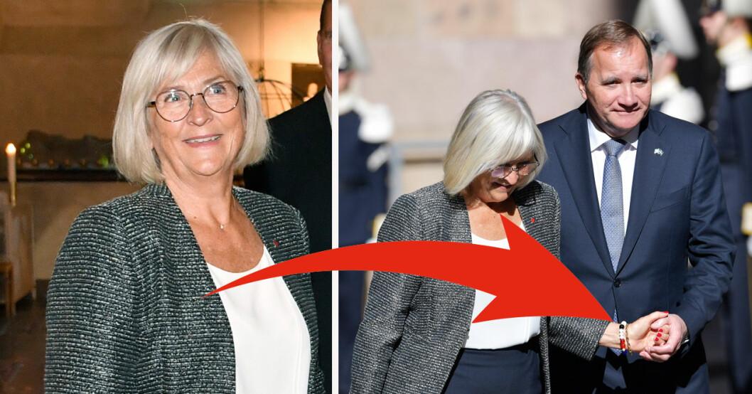 Riksmötets öppnande Stefan Löfven och Ulla Löfven 2021