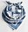 djurmönstrad blå scarf